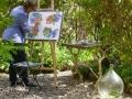 Atelier du Laurier Rouge, création dans le jardin