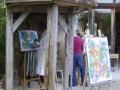Atelier du Laurier Rouge, création en extérieur